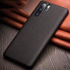 Coque Luxe Cuir Housse Etui R11 pour Huawei P30 Pro Noir