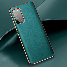 Coque Luxe Cuir Housse Etui S01 pour Huawei Honor X10 5G Cyan