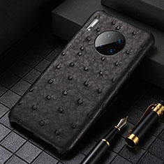 Coque Luxe Cuir Housse Etui S01 pour Huawei Mate 30 5G Noir