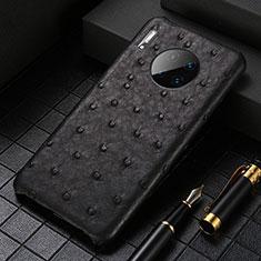 Coque Luxe Cuir Housse Etui S01 pour Huawei Mate 30 Pro 5G Noir