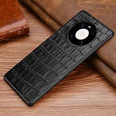 Coque Luxe Cuir Housse Etui S01 pour Huawei Mate 40 Noir