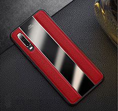 Coque Luxe Cuir Housse Etui S01 pour Huawei P30 Rouge