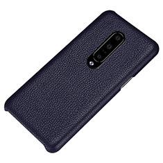 Coque Luxe Cuir Housse Etui S01 pour OnePlus 7 Pro Bleu