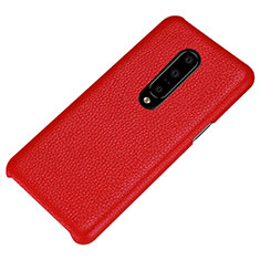 Coque Luxe Cuir Housse Etui S01 pour OnePlus 7 Pro Rouge