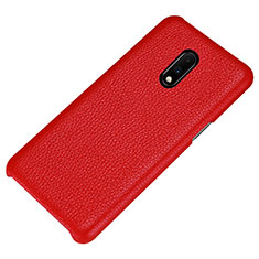 Coque Luxe Cuir Housse Etui S01 pour OnePlus 7 Rouge