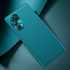 Coque Luxe Cuir Housse Etui S01 pour Oppo Reno5 Pro 5G Cyan
