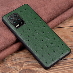 Coque Luxe Cuir Housse Etui S01 pour Xiaomi Mi 10 Lite Vert