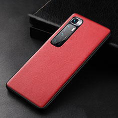 Coque Luxe Cuir Housse Etui S01 pour Xiaomi Mi 10 Ultra Rouge