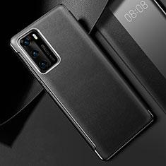 Coque Luxe Cuir Housse Etui S02 pour Huawei P40 Noir