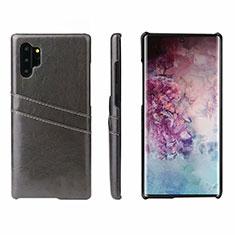Coque Luxe Cuir Housse Etui S02 pour Samsung Galaxy Note 10 Plus 5G Noir