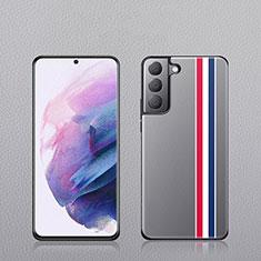 Coque Luxe Cuir Housse Etui S02 pour Samsung Galaxy S21 Plus 5G Mixte