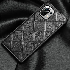 Coque Luxe Cuir Housse Etui S02 pour Xiaomi Mi 11 5G Noir