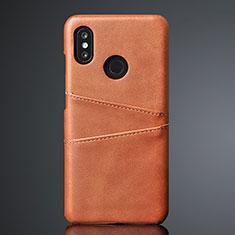 Coque Luxe Cuir Housse Etui S02 pour Xiaomi Mi 8 Marron