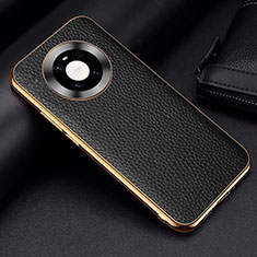 Coque Luxe Cuir Housse Etui S03 pour Huawei Mate 40 Noir