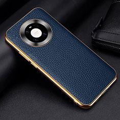 Coque Luxe Cuir Housse Etui S03 pour Huawei Mate 40 Pro Bleu