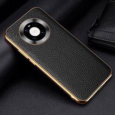 Coque Luxe Cuir Housse Etui S03 pour Huawei Mate 40 Pro Noir