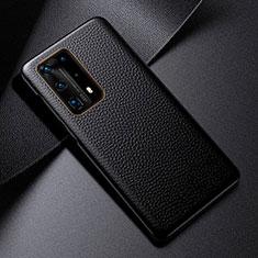 Coque Luxe Cuir Housse Etui S03 pour Huawei P40 Pro+ Plus Noir