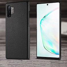 Coque Luxe Cuir Housse Etui S03 pour Samsung Galaxy Note 10 Plus 5G Noir