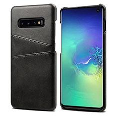 Coque Luxe Cuir Housse Etui S03 pour Samsung Galaxy S10 Noir