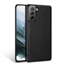 Coque Luxe Cuir Housse Etui S03 pour Samsung Galaxy S21 Plus 5G Noir