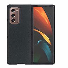 Coque Luxe Cuir Housse Etui S03 pour Samsung Galaxy Z Fold2 5G Noir