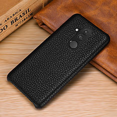 Coque Luxe Cuir Housse Etui S04 pour Huawei Mate 20 Lite Noir
