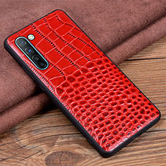 Coque Luxe Cuir Housse Etui S04 pour Oppo F15 Rouge