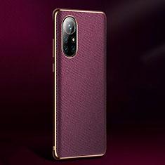 Coque Luxe Cuir Housse Etui S05 pour Huawei Nova 8 Pro 5G Violet