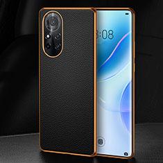 Coque Luxe Cuir Housse Etui S07 pour Huawei Nova 8 5G Noir