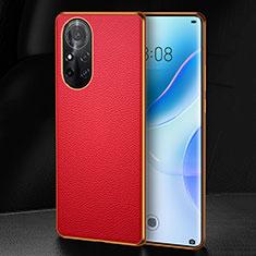 Coque Luxe Cuir Housse Etui S07 pour Huawei Nova 8 Pro 5G Rouge