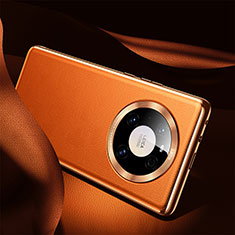 Coque Luxe Cuir Housse Etui S08 pour Huawei Mate 40 Orange