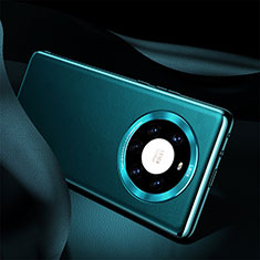Coque Luxe Cuir Housse Etui S08 pour Huawei Mate 40 Pro+ Plus Cyan