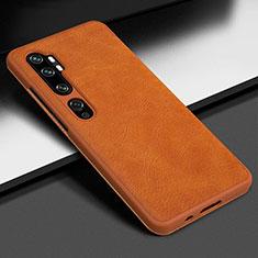 Coque Luxe Cuir Housse Etui Z01 pour Xiaomi Mi Note 10 Pro Orange