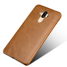 Coque Luxe Cuir Housse L01 pour Huawei Mate 9 Marron