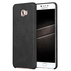 Coque Luxe Cuir Housse L01 pour Samsung Galaxy C7 Pro C7010 Noir