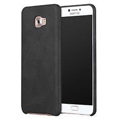 Coque Luxe Cuir Housse L01 pour Samsung Galaxy C9 Pro C9000 Noir