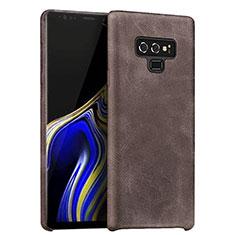 Coque Luxe Cuir Housse L01 pour Samsung Galaxy Note 9 Marron