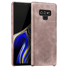 Coque Luxe Cuir Housse L01 pour Samsung Galaxy Note 9 Or Rose
