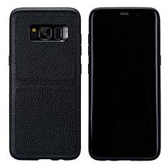Coque Luxe Cuir Housse L01 pour Samsung Galaxy S8 Noir
