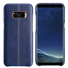 Coque Luxe Cuir Housse L01 pour Samsung Galaxy S8 Plus Bleu