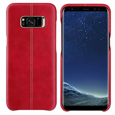 Coque Luxe Cuir Housse L01 pour Samsung Galaxy S8 Rouge