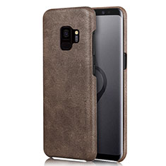 Coque Luxe Cuir Housse L01 pour Samsung Galaxy S9 Marron