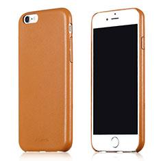 Coque Luxe Cuir Housse L02 pour Apple iPhone 6 Marron