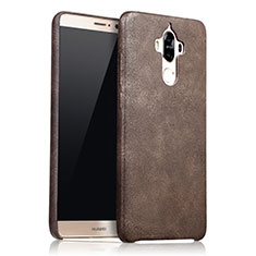 Coque Luxe Cuir Housse L02 pour Huawei Mate 9 Marron