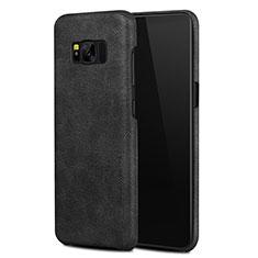 Coque Luxe Cuir Housse L02 pour Samsung Galaxy S8 Noir