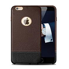 Coque Luxe Cuir Housse pour Apple iPhone 6S Plus Marron