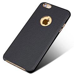 Coque Luxe Cuir Housse pour Apple iPhone 6S Plus Noir