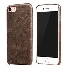 Coque Luxe Cuir Housse pour Apple iPhone 8 Marron