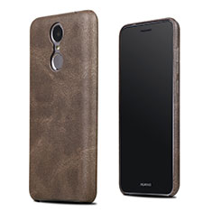 Coque Luxe Cuir Housse pour Huawei Enjoy 6 Marron
