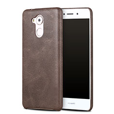 Coque Luxe Cuir Housse pour Huawei Enjoy 6S Marron